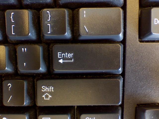 Где находится кнопка enter