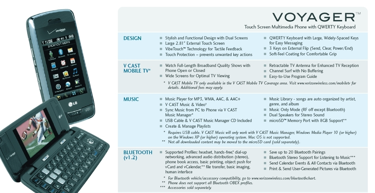 Voyager Spec Sheet Top