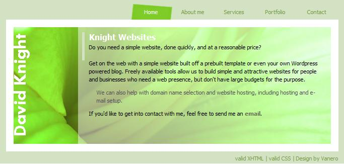 Knight Websites Screen Shot