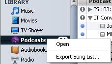 Itunes Podcast Export