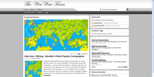 WeeWar Times Screen Shot