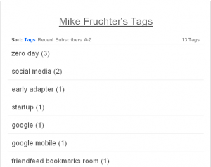 You can click Top Tags to see all of a user's tags, notice the sort options